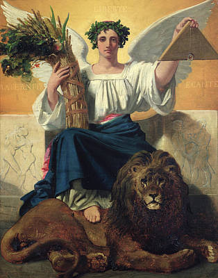 The Republic, 1848 Oil On Canvas Poster