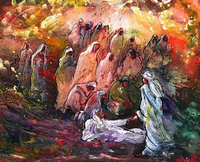 The Resurrection Of Lazarus Poster by Miki De Goodaboom