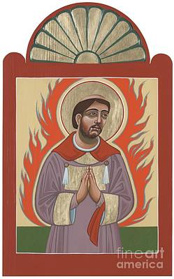 Poster featuring the painting The Retablo Of San Lorenzo Del Fuego 253 by William Hart McNichols