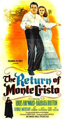 The Return Of Monte Cristo, Us Poster Poster