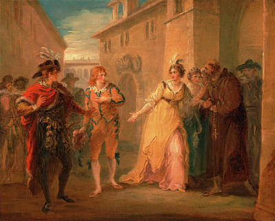 The Revelation Of Olivias Betrothal, From Twelfth Night Poster