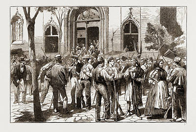 The Revolt In Valencia, Federalists Taking Possession Poster