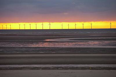 The Rhyl Flats Offshore Wind Farm Poster by Ashley Cooper