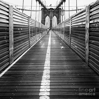 The Riders Brooklyn Bridge Poster by John Farnan