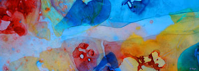 The Right Path - Colorful Abstract Art By Sharon Cummings Poster