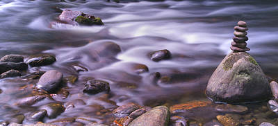 The River Flows Poster by Mike McGlothlen