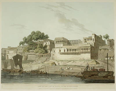 The River Ganges And Patna City Poster