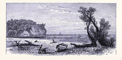 The River Mouth Of The Rocky River United States Of America Poster by American School