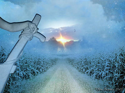The Road Home Through The Maize Poster by Gate Gustafson