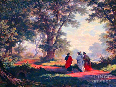 The Road To Emmaus Poster by Tina M Wenger