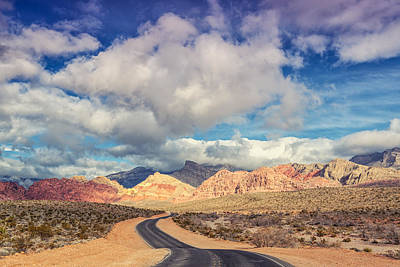 The Road To Turtlehead Peak Las Vegas Nevada Red Rock Canyon  Poster