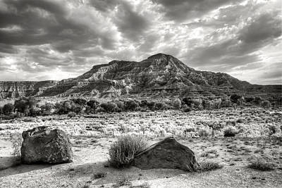 Poster featuring the photograph The Road To Zion In Black And White by Tammy Wetzel