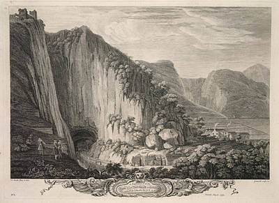 The Rocks & Cavern At Castleton Poster by British Library