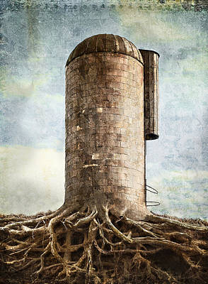The Roots Of The Farm Poster by Rick Mosher