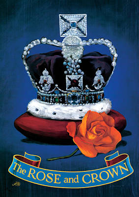 The Rose & Crown Poster by Peter Green