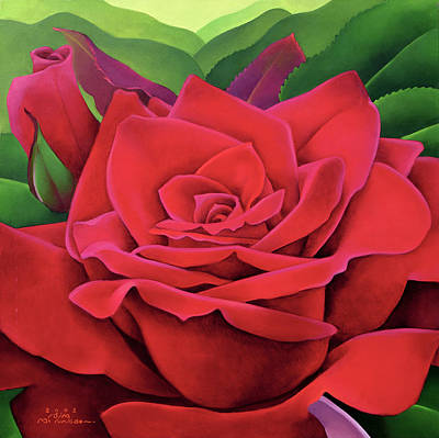 The Rose Poster by Myung-Bo Sim