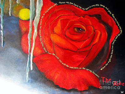 The Rose Poster by Maria Watt