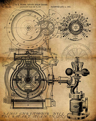 The Rotary Engine Poster by James Christopher Hill