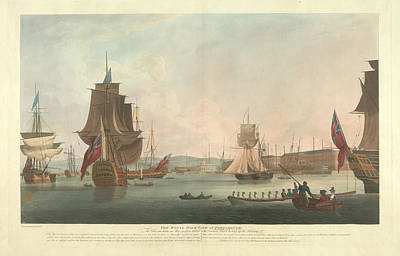 The Royal Dockyard At Portsmouth Poster by British Library