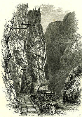 The Royal Gorge Of The Arkansas 1891 Usa Poster by American School
