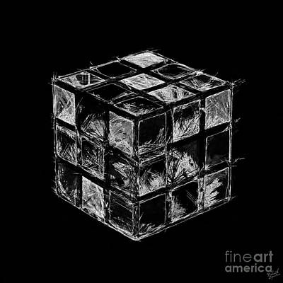 The Rubik's Cube Poster by Nishanth Gopinathan