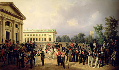 The Russian Guard In Tsarskoye Selo In 1832, 1841 Oil On Canvas Poster by Franz Kruger