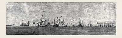 The Russian Navy At Cronstadt Poster by English School