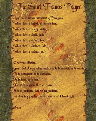 The Saint Francis Prayer Poster