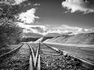 Poster featuring the photograph The Sand Quarry Tracks. by Gary Gillette