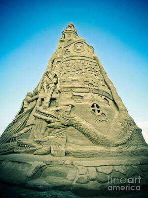 The Sandcastle Poster by Colleen Kammerer