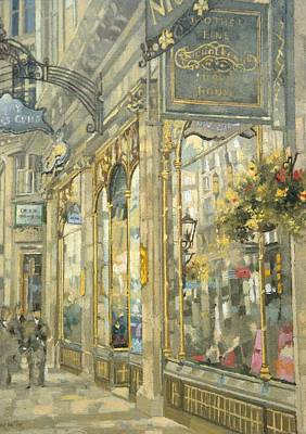 The Savoy Taylors Guild - The Strand Oil On Canvas Poster by Peter Miller