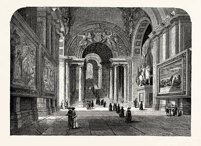 The Scala Regia Of The Vatican Poster by Italian School