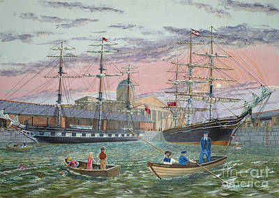 Poster featuring the painting The Scamps Of Canning Dock by Anthony Lyon