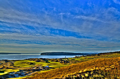 The Scenic Chambers Bay Golf Course II - Location Of The 2015 U.s. Open Tournament Poster by David Patterson