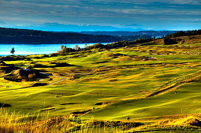 The Scenic Chambers Bay Golf Course - Location Of The 2015 U.s. Open Tournament Poster by David Patterson