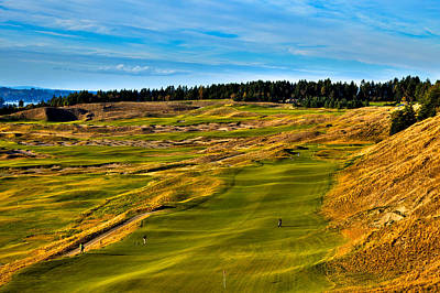 The Scenic Chambers Bay Golf Course V - Location Of The 2015 U.s. Open Tournament Poster by David Patterson