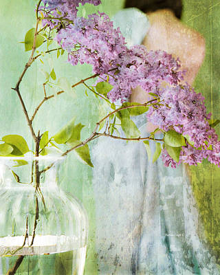 The Scent Of Lilacs Poster by Theresa Tahara
