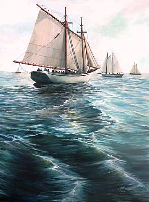The Schooners Poster by Eileen Patten Oliver