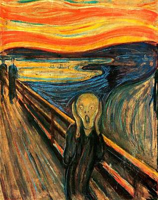 The Scream Edvard Munch 1893                    Poster