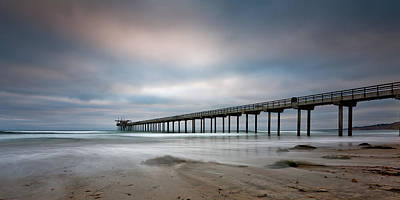 The Scripps Pier Poster by Peter Tellone
