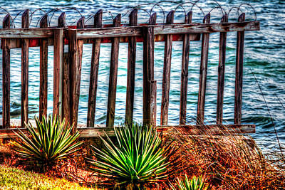 The Sea Fence Siesta Key Fla. Poster by Tom Prendergast
