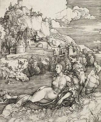 The Sea Monster Poster by Albrecht Durer or Duerer