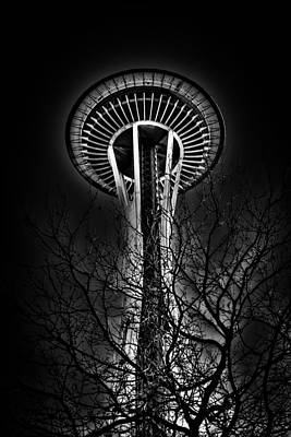 The Seattle Space Needle At Night Poster