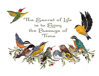 The Secret Of Life Poster by Alexandra  Sanders
