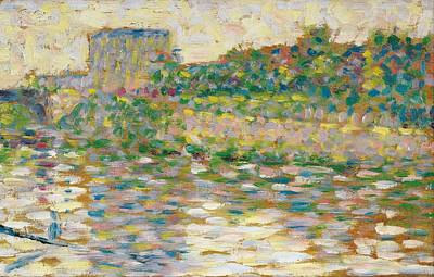 The Seine At Courbevoie Poster by Georges Seurat