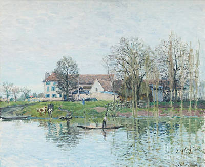 The Seine At Port Marly By Alfred Sisley Poster by Roberto Morgenthaler