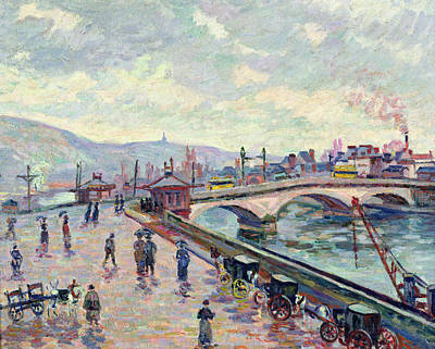 The Seine At Rouen Poster by Jean Baptiste Armand Guillaumin