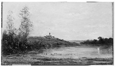 The Seine Morning Poster by Charles-Fran�ois Daubigny