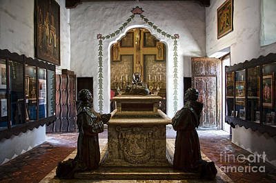 The Serra Cenotaph In Carmel Mission Poster