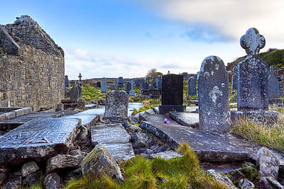 The Seven Churches Ruins On Inis Mor Poster by Mark E Tisdale